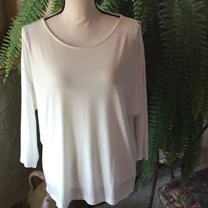 Chico's NWOT White Blouse with Open Sleeve Detail